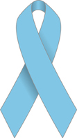 Blue Ribbon signifies Prostate Cancer Awareness